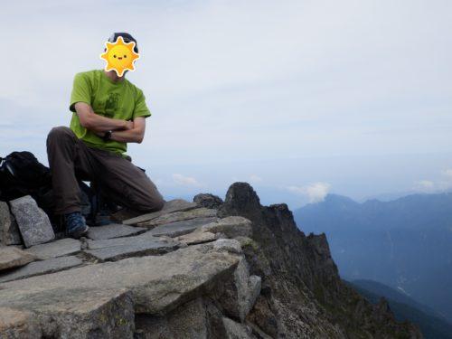 奥穂高岳山頂からジャンダルム