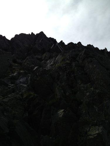 急峻な岩場