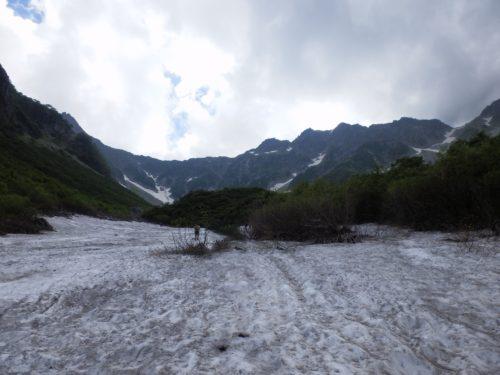 涸沢カール雪渓