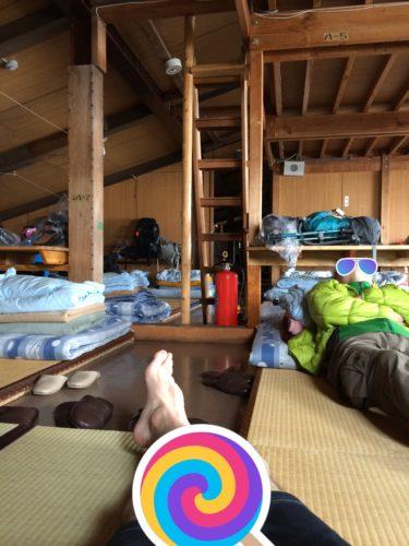 北岳山荘寝室