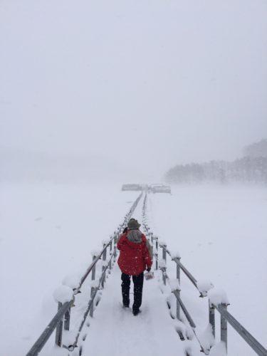 岩洞湖氷結