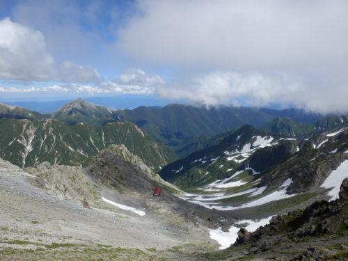 槍ヶ岳山頂から眺望