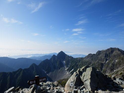 北穂高岳山頂からの眺望