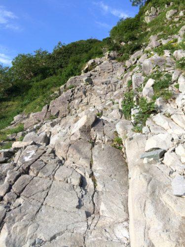 北穂ルート岩盤