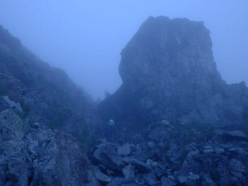 別山尾根の大岩