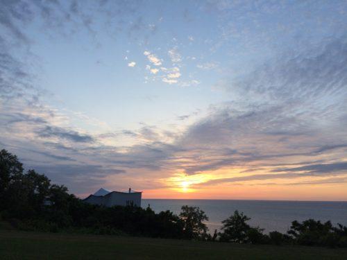 グランメール山海荘夕日