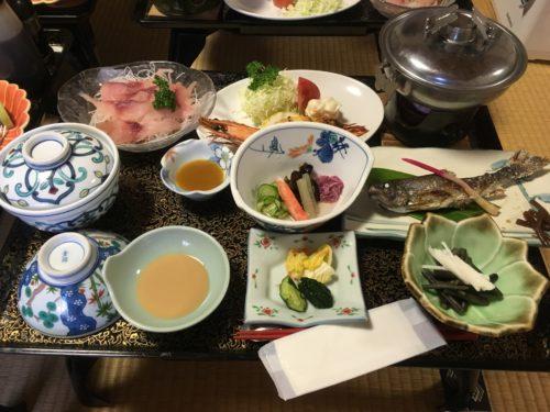 幕川温泉水戸屋旅館夕食