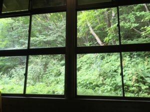 ぬる湯温泉窓の外