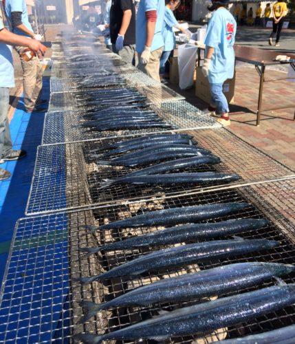 女川秋刀魚収穫祭・さんま焼き