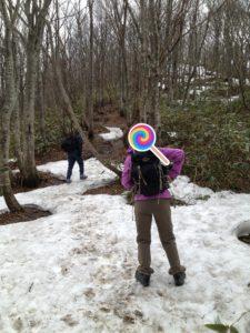 泉ヶ岳表コース残雪