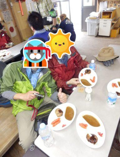 富士山山小屋夕食
