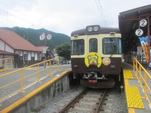 富士山帰りの電車
