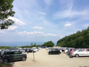 あだたら奥岳スキー場登山口駐車場