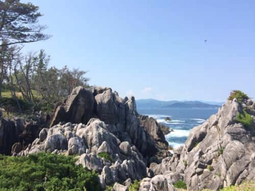気仙沼岩井崎の岩場