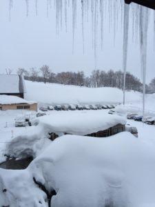 酸ヶ湯温泉朝の雪景色