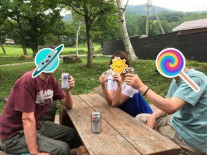 奥岳の湯デッキ乾杯