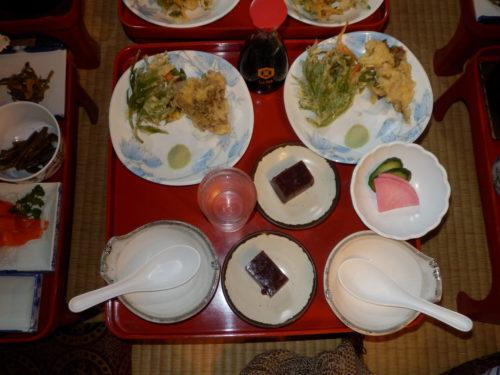 奥鬼怒温泉郷八丁の湯夕食デザート