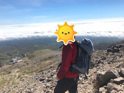 那須岳登山雲海