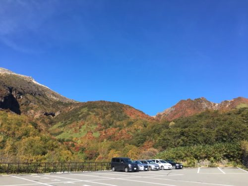 那須岳下り駐車場
