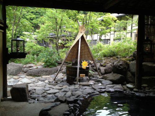 ランプの宿青荷温泉露天たる風呂