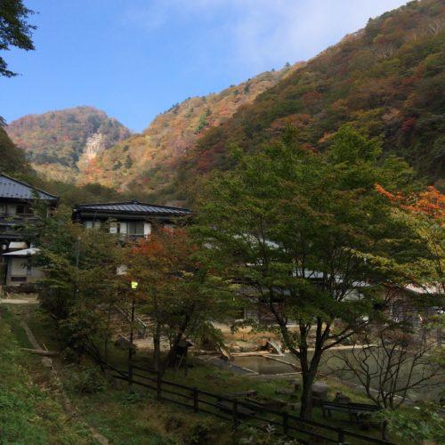 那須・北温泉の紅葉