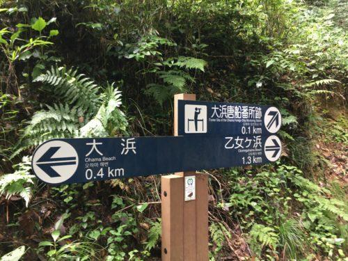 嵯峨渓遊歩道看板分岐