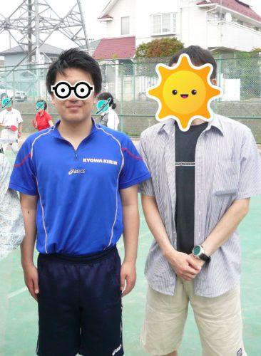 プロ卓球選手とツーショット