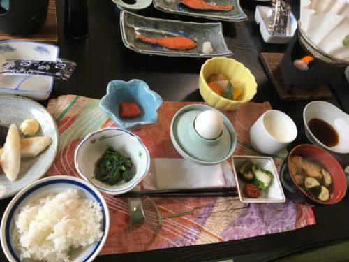 川渡温泉越後屋旅館の朝ご飯
