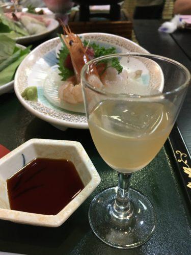 川渡温泉越後屋旅館の夕食食前酒