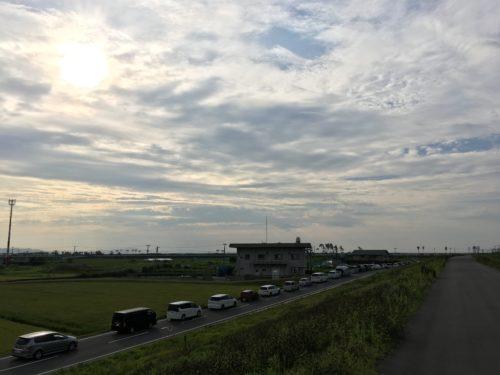 松島基地への渋滞