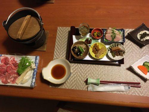 鷹の湯夕食