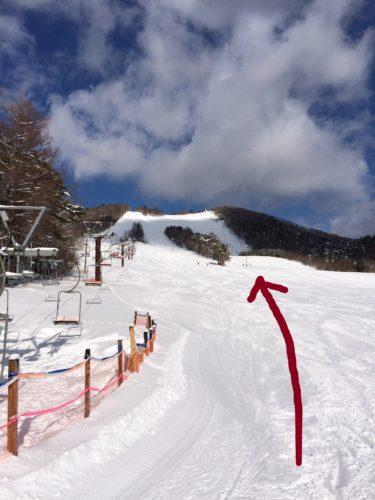 泉ヶ岳スキー場ルート