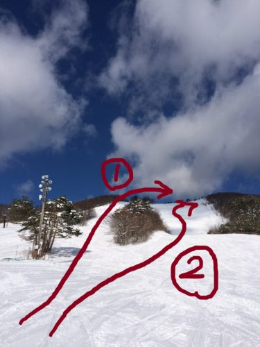 泉ヶ岳スキー場ルート案内