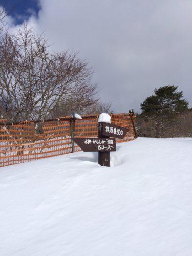 泉ヶ岳スキー場コース看板